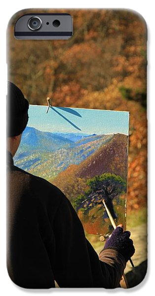 Painter Photographs iPhone Cases - Painting Shenandoah iPhone Case by Dan Sproul