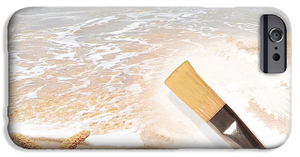 Concept Art iPhone Cases - Painting The Beach iPhone Case by Amanda And Christopher Elwell