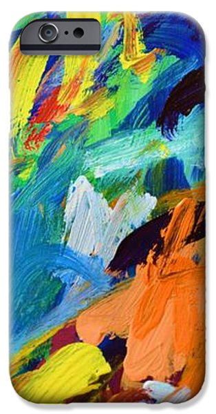 Abstract Expressionist iPhone Cases - And God Said Let There Be Light - Genesis1 3 - Blue Abstract Expressionist Painting iPhone Case by Philip Jones
