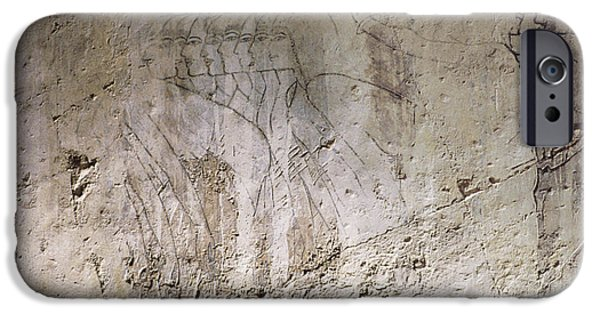 Sepulchre Drawings iPhone Cases - Painting West Wall Tomb of Ramose T55 - Stock Image - Fine Art Print - Ancient Egypt iPhone Case by Urft Valley Art