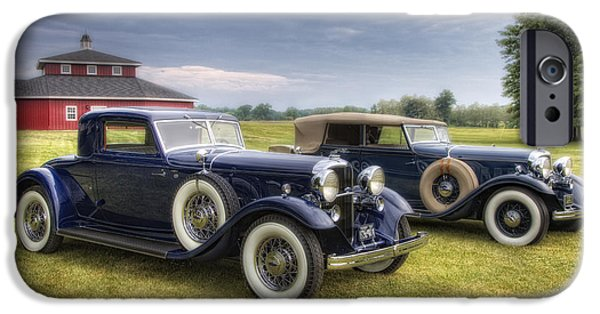 Old Cars iPhone Cases - Pair Of Lincolns iPhone Case by Timothy Hacker