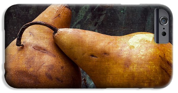 Pears iPhone Cases - Pair of Lovers iPhone Case by Edward Fielding