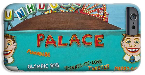 Carousel House Paintings iPhone Cases - Palace Amusements II iPhone Case by Norma Tolliver