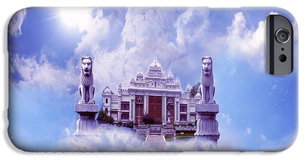 Frame Shop Digital iPhone Cases - Palace and sky iPhone Case by Artist Nandika  Dutt
