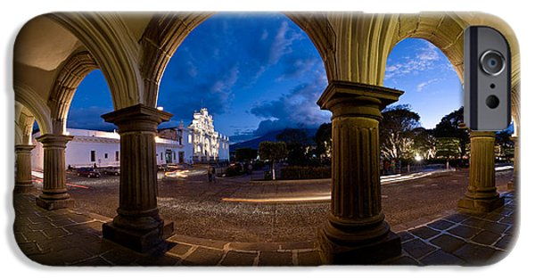 Town iPhone Cases - Palace At Dusk, Palacio De Los iPhone Case by Panoramic Images
