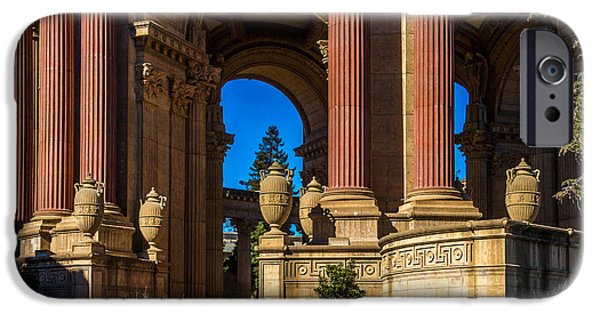 Bill Gallagher iPhone Cases - Palace Of Fine Arts/Columns And Curves iPhone Case by Bill Gallagher