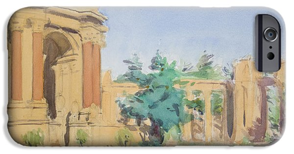 Park Scene Paintings iPhone Cases - Palace of Fine Arts iPhone Case by Walter Lynn Mosley