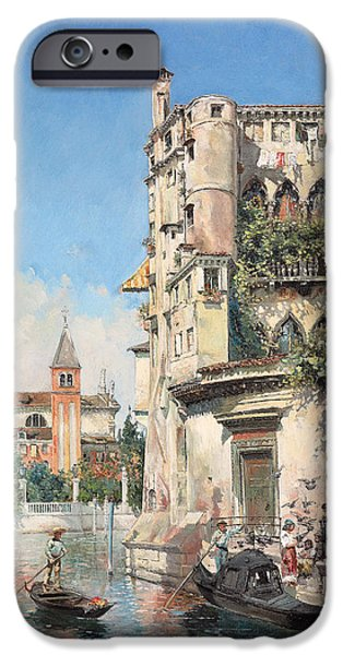 Balcony iPhone Cases - Palazzo Contarini iPhone Case by Jose Gallegos Arnosa