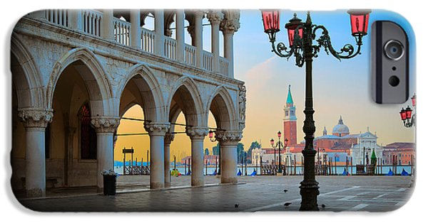 Piazza San Marco iPhone Cases - Palazzo Ducale iPhone Case by Inge Johnsson