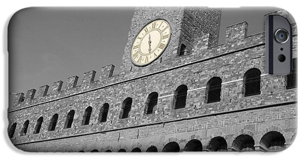 Royal Family Arts iPhone Cases - Palazzo Vecchio at Florense iPhone Case by Aleksandar Hajdukovic