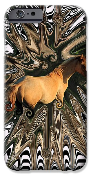 Abstract Digital Photographs iPhone Cases - Pale Horse iPhone Case by Aidan Moran