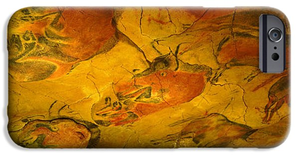 Archaeology iPhone Cases - Paleolithic Paintings, Altamira Cave iPhone Case by Panoramic Images