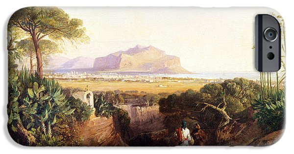 Sicily Paintings iPhone Cases - Palermo Sicily iPhone Case by Edward Lear