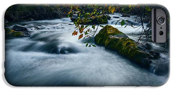 Overcast Day iPhone Cases - Palisades Creek Idaho in Fall iPhone Case by Vishwanath Bhat