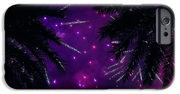 4th July Mixed Media iPhone Cases - Palm art iPhone Case by Davids Digits