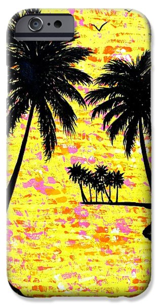 Abstract Seascape iPhone Cases - Palm Sunday iPhone Case by JoNeL Art