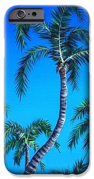 Caribbean iPhone Cases - Palm Tops iPhone Case by Anastasiya Malakhova