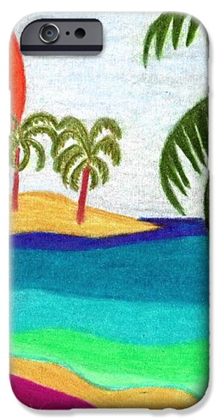 Palm Trees Across the Water iPhone Case by Geree McDermott