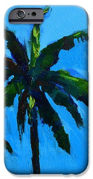 Palm Trees at Miami Beach iPhone Case by Patricia Awapara