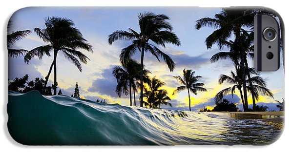 Sea Photographs iPhone Cases - Palm wave iPhone Case by Sean Davey