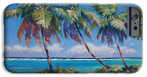 Bermudas iPhone Cases - Palms at the Islands End iPhone Case by John Clark