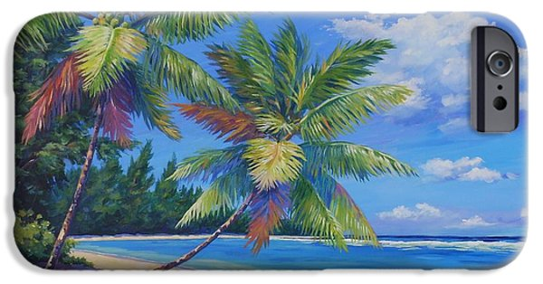 Cuba iPhone Cases - Palms at Winter Haven iPhone Case by John Clark