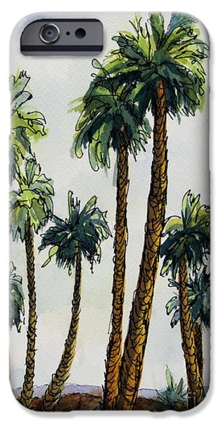 Desert Scape iPhone Cases - Well Dressed for the Gathering iPhone Case by Maria Hunt