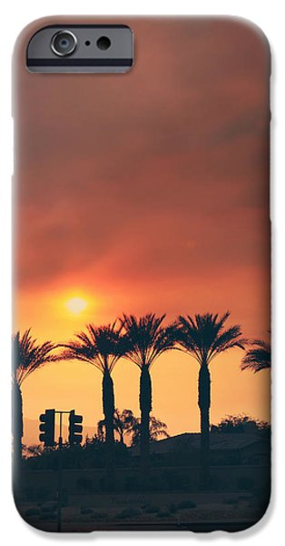 Fiery iPhone Cases - Palms on Fire iPhone Case by Laurie Search