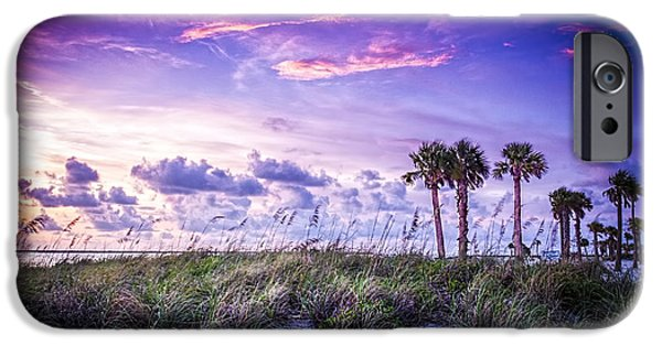 Sea Oats iPhone Cases - Palms on the Beach iPhone Case by Marvin Spates