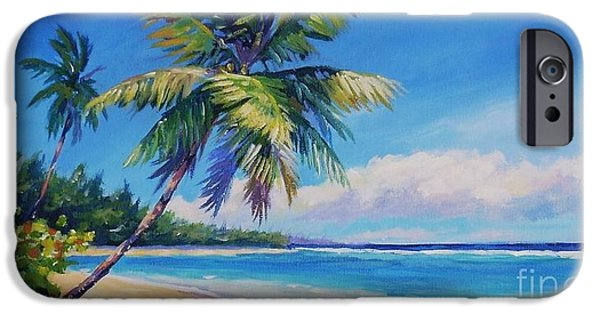 Cuba iPhone Cases - Palms on Tortola iPhone Case by John Clark