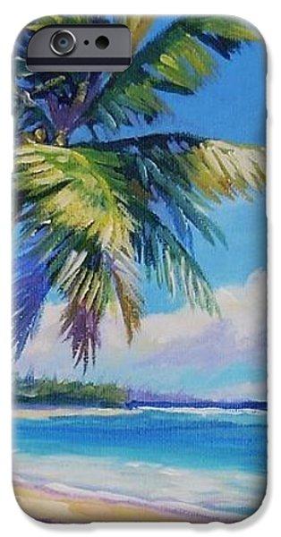 Palms on Tortola iPhone Case by John Clark