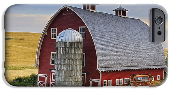 Silos iPhone Cases - Palouse Barn - Est. 1919 iPhone Case by Mark Kiver