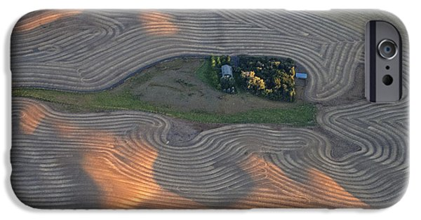 Contour Plowing iPhone Cases - Palouse Contours III iPhone Case by Doug Davidson