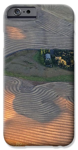 Palouse Contours III iPhone Case by Latah Trail Foundation
