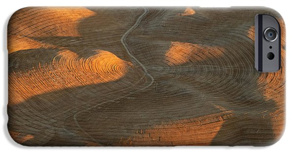 Contour Plowing iPhone Cases - Palouse Contours IV iPhone Case by Latah Trail Foundation