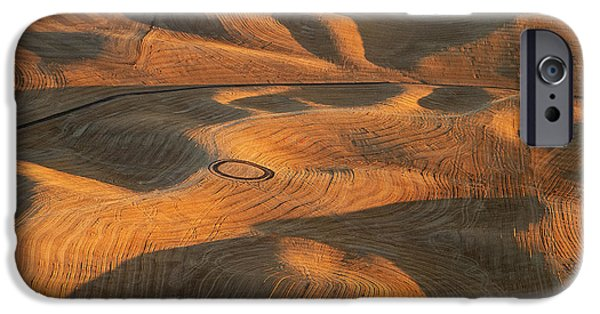 Contour Plowing iPhone Cases - Palouse Contours V iPhone Case by Latah Trail Foundation