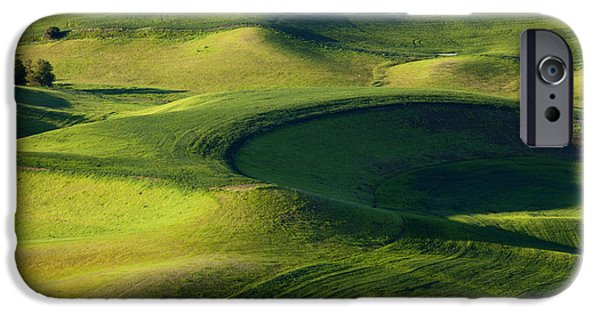 Crops iPhone Cases - Palouse Curves iPhone Case by Mike  Dawson