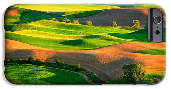 Harmonious iPhone Cases - Palouse Fields iPhone Case by Inge Johnsson