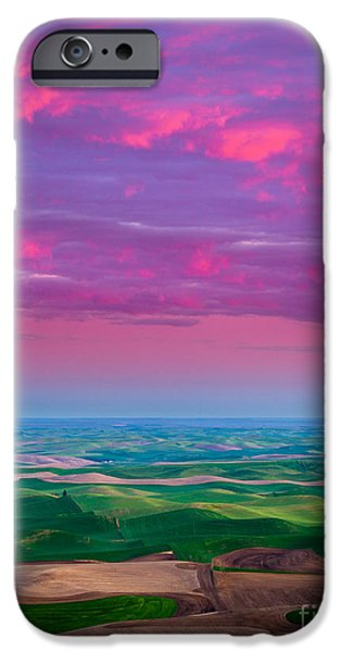 Grain iPhone Cases - Palouse Fiery Dawn iPhone Case by Inge Johnsson
