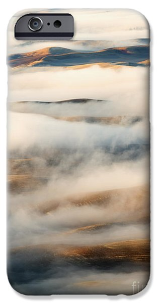 Fog Mist iPhone Cases - Palouse Fog Clears iPhone Case by Mike Dawson