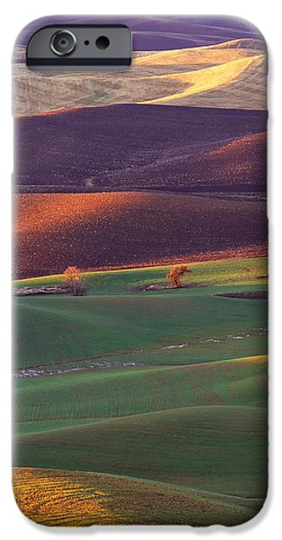 Recently Sold -  - Agriculture iPhone Cases - Palouse Sunset iPhone Case by Bobbie Climer