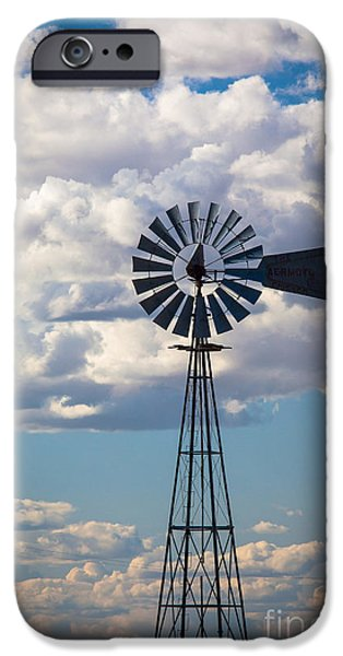 Agricultural iPhone Cases - Palouse Windmill iPhone Case by Inge Johnsson