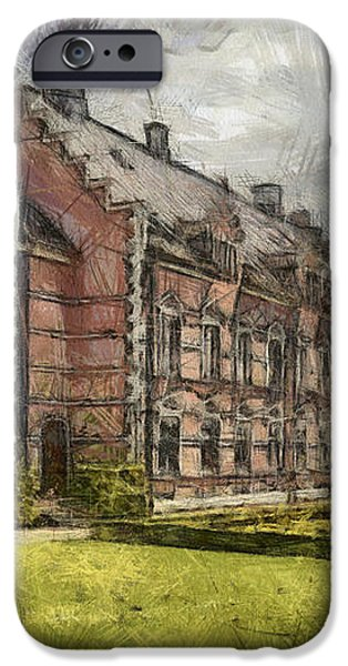 Palsjo Slott Sketch iPhone Case by Antony McAulay