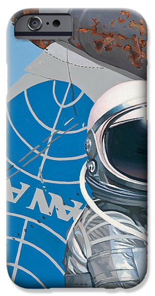 Science Paintings iPhone Cases - Pan Am iPhone Case by Scott Listfield