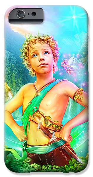 Young Digital Art iPhone Cases - Pan iPhone Case by Shannon Maer
