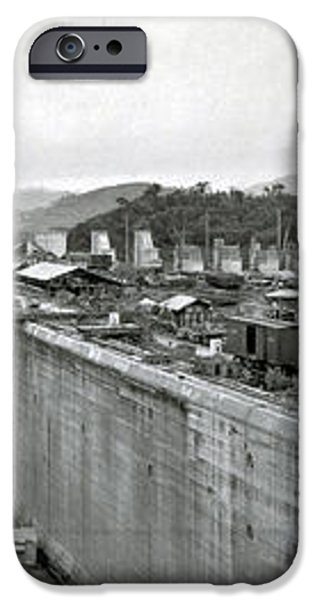 Panama Canal Construction 1910 iPhone Case by Photo Researchers