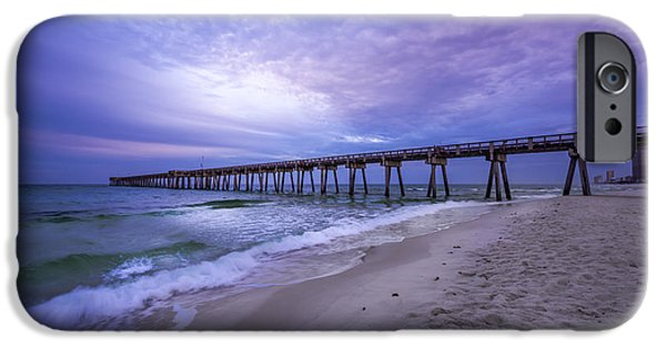 Panama City Beach Photographs iPhone Cases - Panama City Beach Pier in the Morning iPhone Case by David Morefield
