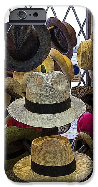 Lightweight iPhone Cases - Panama Hats Are Made In Ecuador II iPhone Case by Al Bourassa