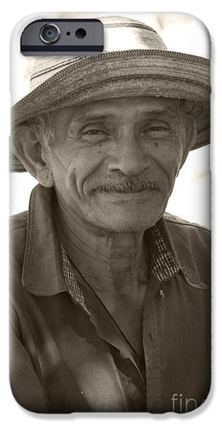 Handsome People iPhone Cases - Panamanian Country Man iPhone Case by Heiko Koehrer-Wagner