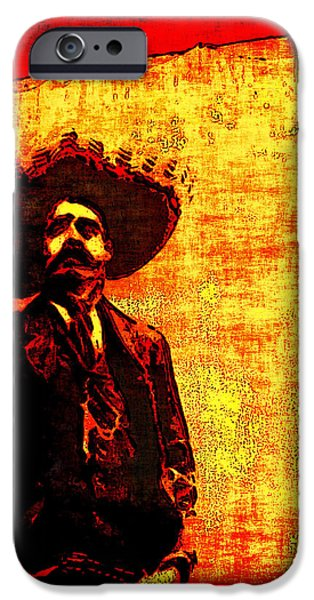 Arango iPhone Cases - Pancho Villa iPhone Case by Joan  Minchak